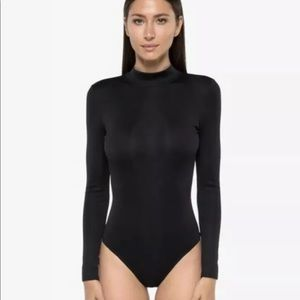 NWT KORAL Black Aurora Ripped Bodysuit Small S
